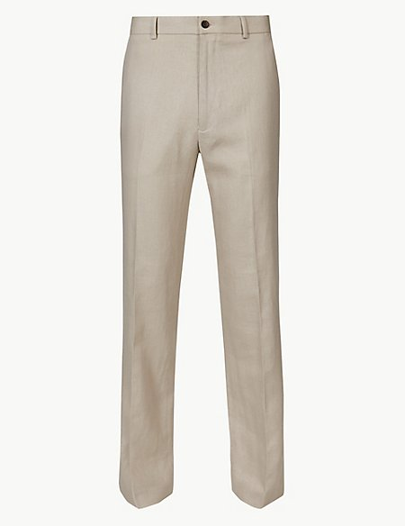 Big & Tall Textured Regular Fit Trousers
