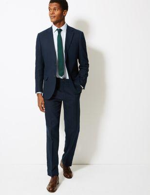 Pantalon en lin texturé coupe standard