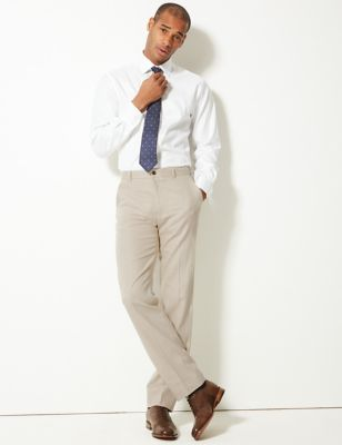 Textured Regular Fit Linen Trousers