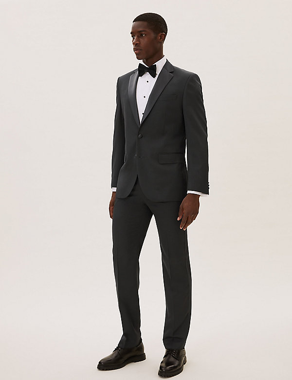 Grandes tailles – Veste de smocking noire coupe standard