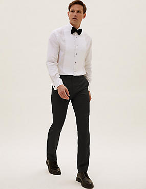 Black Slim Fit Dinner Trousers