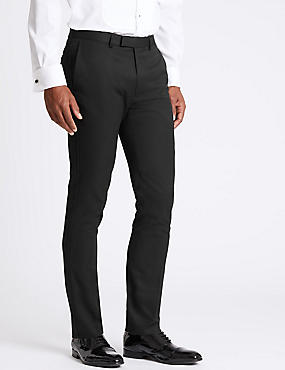 Black Modern Slim Fit Trousers