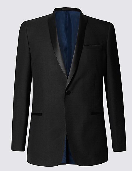 Black Slim Fit Dinner Jacket