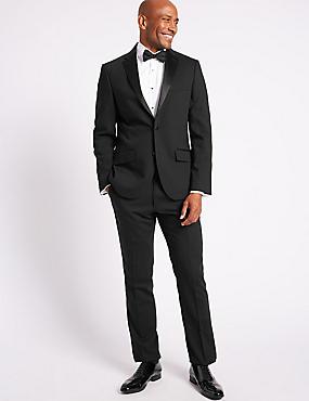 Black Tailored Fit Tuxedo Suit