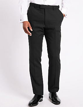 Black Tailored Fit Dinner Trousers