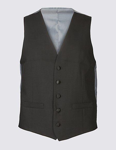 Black Slim Fit Dinner Waistcoat