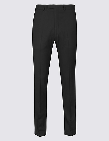 Black Textured Skinny Fit Trousers