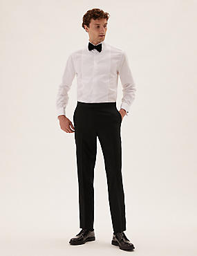 Tailored Fit Wool Tuxedo Trousers