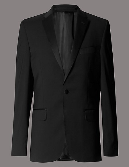 Big & Tall Black Tailored Jacket
