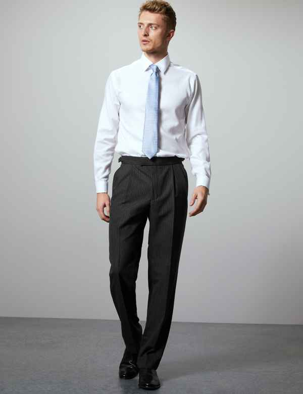 f53f6f56914 Charcoal Regular Fit Wool Blend Trousers