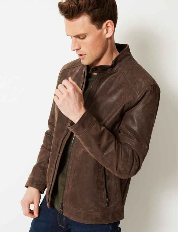 1ff5da451 Mens Leather Coats & Casual Jackets | M&S