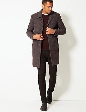 Overcoat with Wool, GREY MIX, catlanding