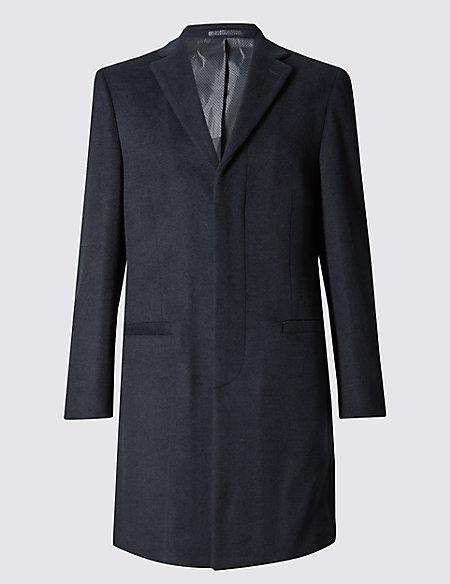 Revere Collar Single Breasted Coat