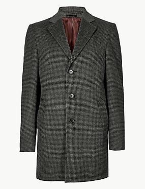 Wool Blend Revere Overcoat