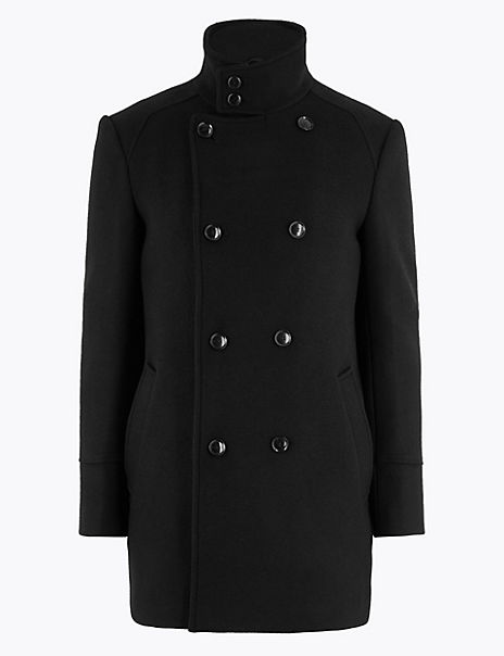 Tailored Wool Double Breasted Jacket