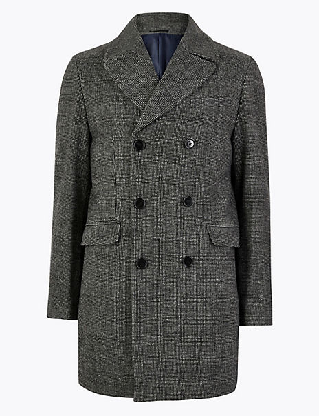 Tailored Wool Double Breasted Peacoat