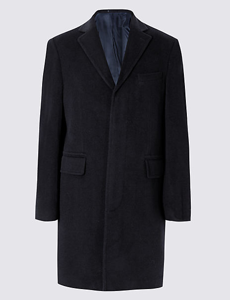 Luxury Italian Wool Overcoat with Cashmere