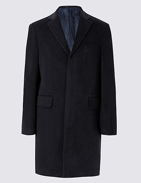 Wool Rich Coat with Cashmere