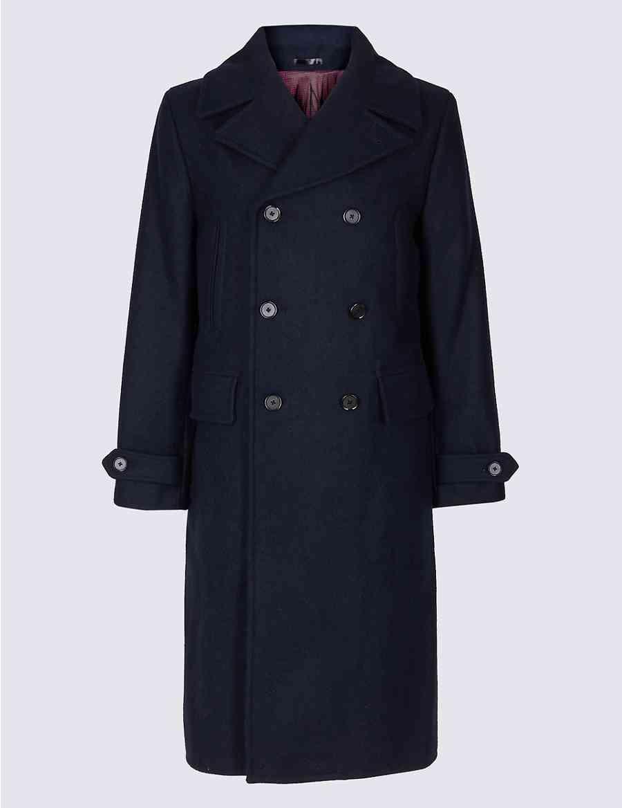 ded9d2d5395 Pure Wool Overcoat