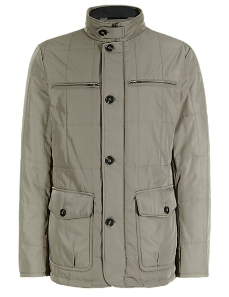 Double Collar Quilted Jacket with Stormwear™