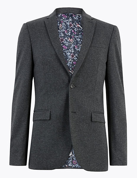 Skinny Fit Textured Jacket