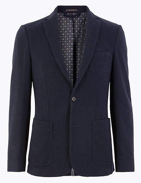 Textured Slim Fit Jacket