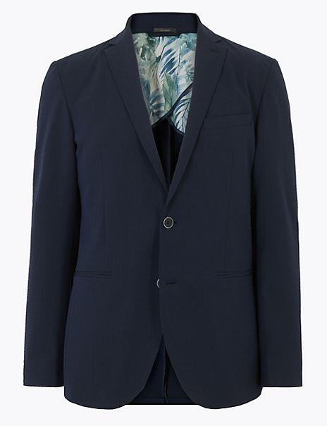 Slim Seersucker Lightweight Jacket