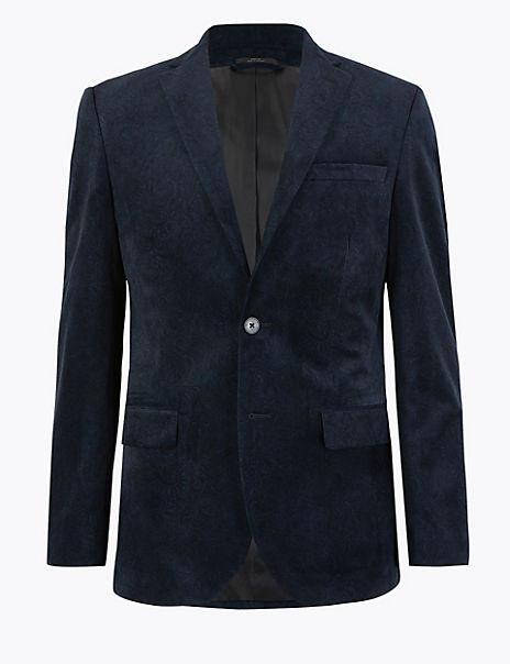 Tailored Velvet Printed Jacket