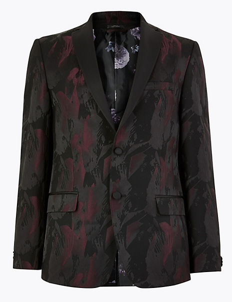 Printed Slim Fit Jacket