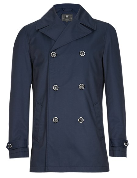 Double Breasted Pea Coat with Stormwear™