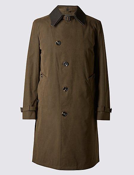 Cotton Blend Mac with Stormwear™
