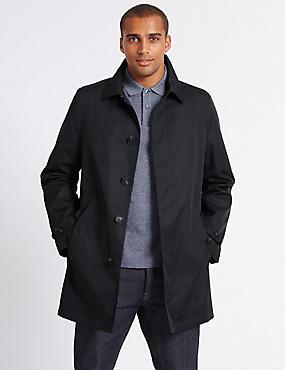 Hooded Mac with Stormwear™, NAVY, catlanding