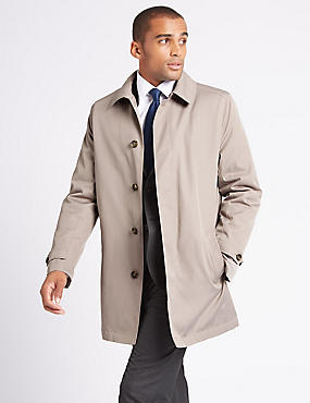 Hooded Mac with Stormwear™ , TAUPE, catlanding