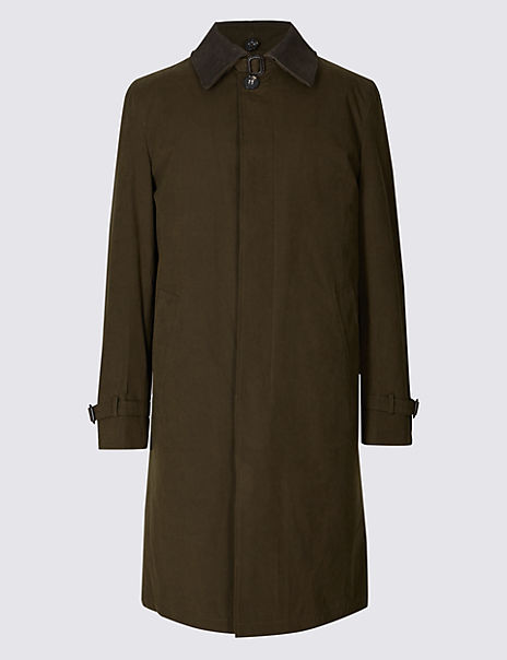 Cotton Blend Trench Coat with Stormwear™