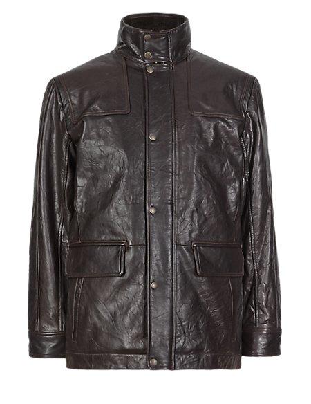 Leather Jacket Lightly Padded