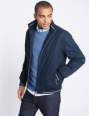 Bomber Jacket with Stormwear™, NAVY, catlanding