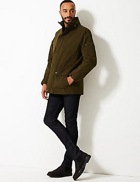 Cotton Blend Jacket with Stormwear™, OLIVE, catlanding