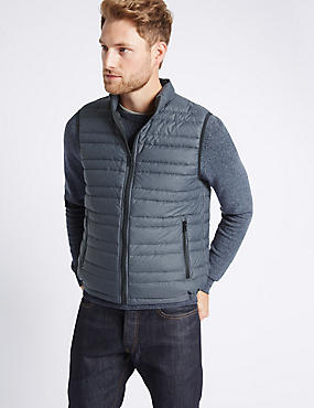 Down & Feather Gilet with Stormwear™, GREY, catlanding