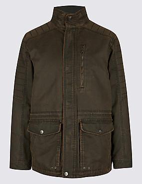 Washed Cotton Blend Jacket