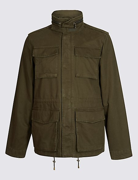 Pure Cotton Four Pocket Jacket