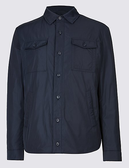 Padded Shirt Jacket with Stormwear™