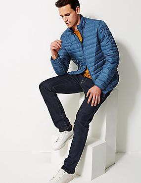 Down & Feather Jacket with Stormwear™, DARK MARINE, catlanding