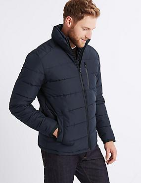 Padded Jacket with Stormwear™ , NAVY, catlanding