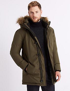 Parka with Stormwear™, OLIVE, catlanding
