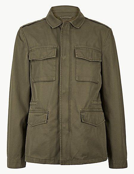 Pure Cotton Four Pocket Jacket