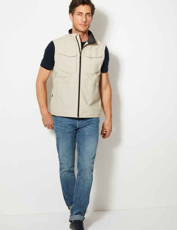 b08653b1ca8e03 Cotton Rich Gilet with Stormwear™. Big   tall sizes available