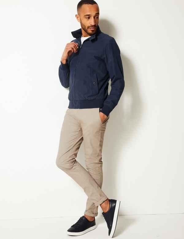 9bbca71db96 Cotton Blend Harrington Jacket
