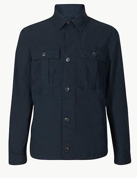 Pure Cotton Shirt Jacket