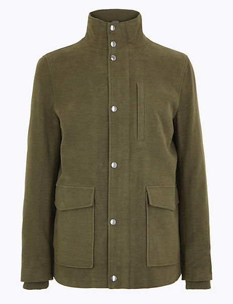 Cotton Rich Italian Moleskin Coat