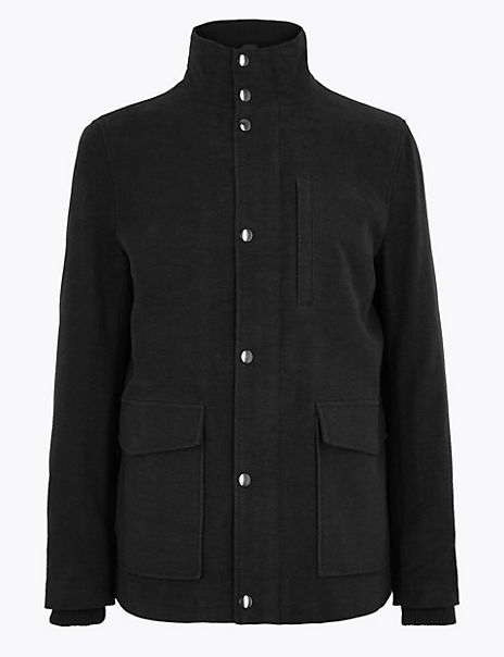 Cotton Rich Italian Moleskin Coat